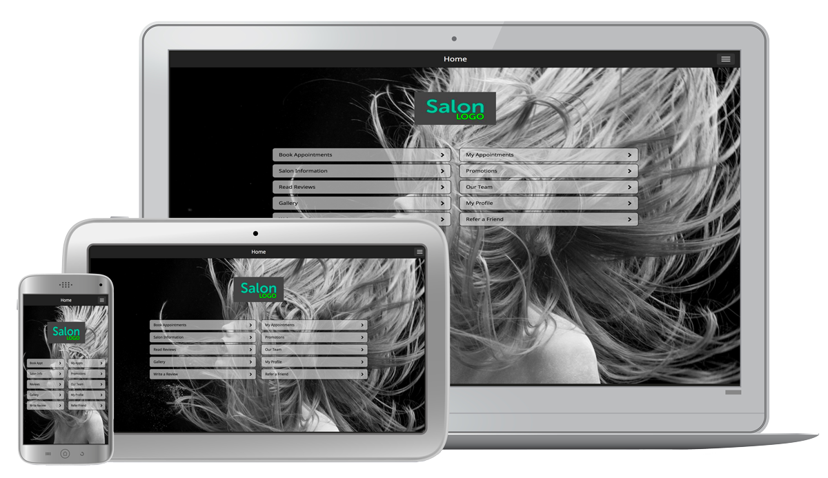Salon SalonTarget - Online Booking Mobile Tablet and Desktop